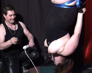 Suspension Bondage and Nipple Torture